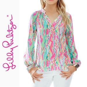 "Lilly Pulitzer Elsa Top ""Dripping in Jewels"" - XXS"